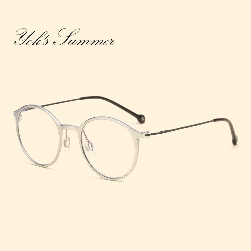 Yok летний корейский Анти Blue Ray компьютер игровой очки Для женщин ретро Алюминий чтен ...