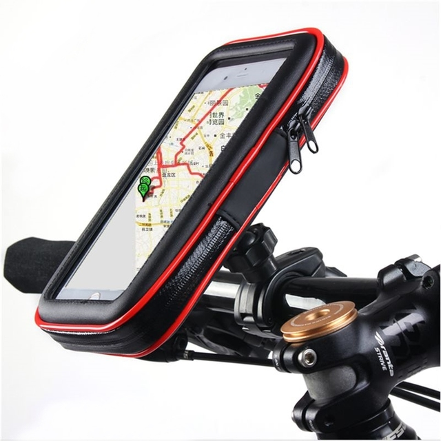 Bicycle Motorcycle Phone Holder Stand w/ Upgrade Waterproof Pouch Bag for iPhone Xs Max GPS for Huawei P20 Bike Handlebar Mount