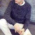 Мода Основной Стиль Мужчины Теплый Флис Свитер Зима Осень мужская Марка С Длинным Рукавом Slim Fit Костюм Трикотаж Пуловер Homme