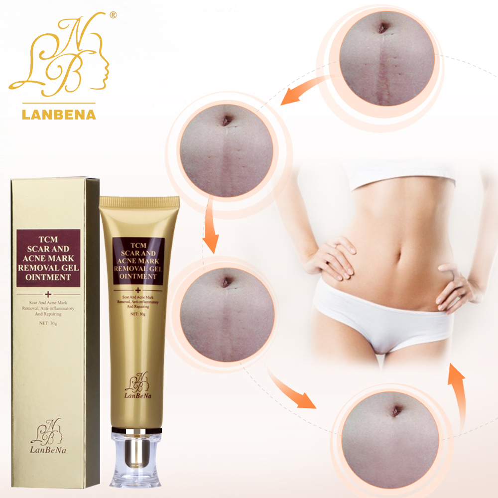 LANBENA Acne Cream Skin Scar Cream Ginseng Essence Anti Acne Remover  Face Care Makeup Spots Stretch Marks Remove Scar Product  vietnam ginger anti acne ointment pimple scar cream acnes treatment remove acne scar repair skin face skin care