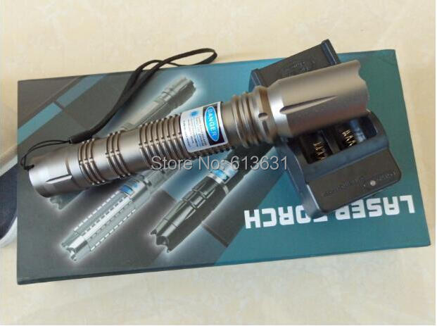 High quality laser Full packaging real 3000mW 3w Blue laser pointer 450nm Ignite powerful laser powerful laser Self-defense 5000