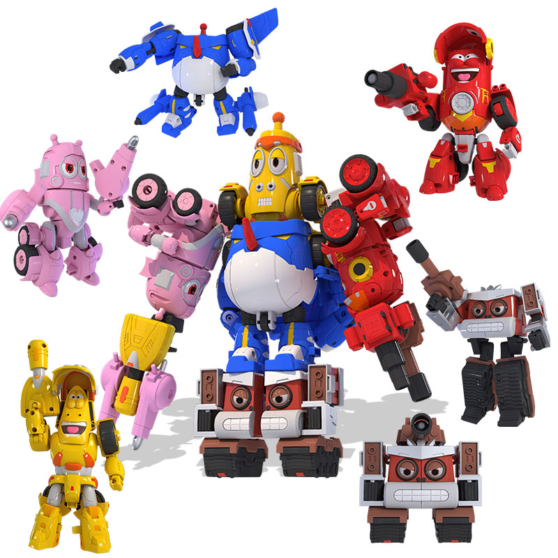 5pcs/set High Quality ABS Fun Larva Transformation Toys Action Figures Deformation Car Mode And Mecha Mode For Birthday Gift