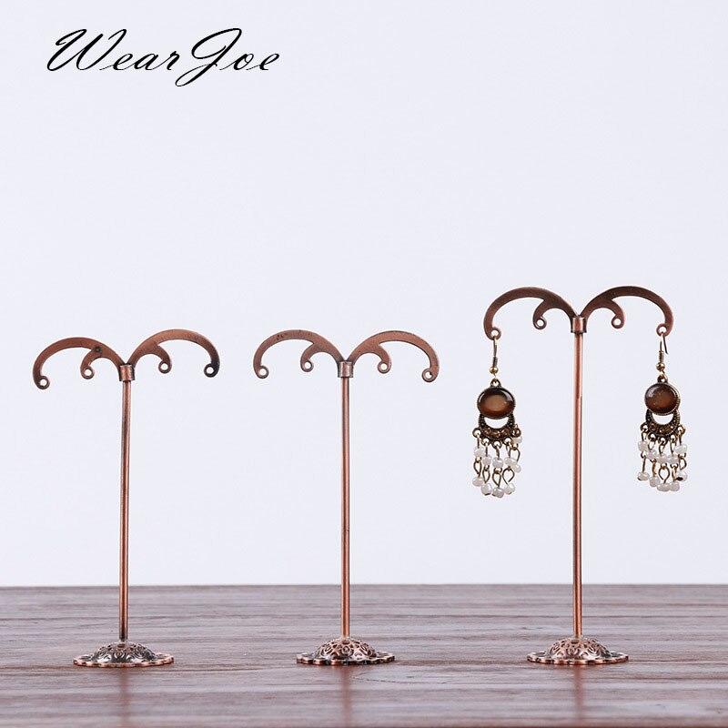 Antique Earring Jewelry Holder Round Metallic Hanger Stand Organizer Dangle Earrings Ring Body Jewelry Ornament Organizer Holder