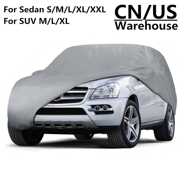 Universal SUV Automobile Car Cover UV Sun Dust Proof Resistant Full Cars Covers Coat M L XL For Toyota Jeep Chevrolet Land Rover