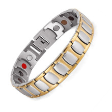 все цены на Stainless Steel Bracelet Men Magnet Germanium Bracelet Men's Stainless Steel Jewelry Bracelet