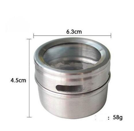 DHL Gratis verzending 100 stks/partij Magische magnetische Roestvrij staal kruidkruik monoseksualiteit tank saus pot kruiden fles