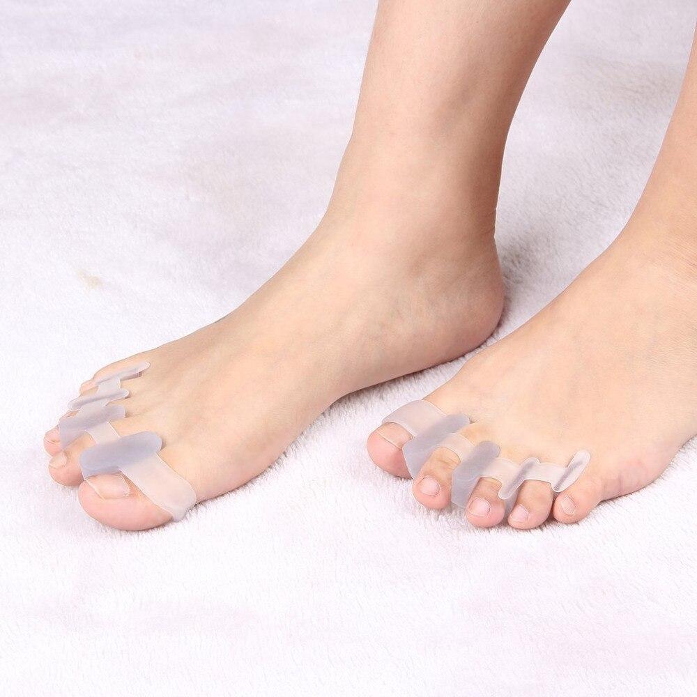 Fußpflege-utensil Schönheit & Gesundheit 1 Paar 2 Farben Toe Separator Hallux Valgus Zehen Überlappenden Trennung Zehen Rehabilitation Korrektur Orthesen Yoga Bedarfs