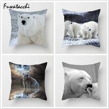 Fuwatacchi Throw Pillows Polar Cushion Cover for Sofa Home Decor North Pole Pillow Cover for Car Home Room Decorative Pillowcase цена