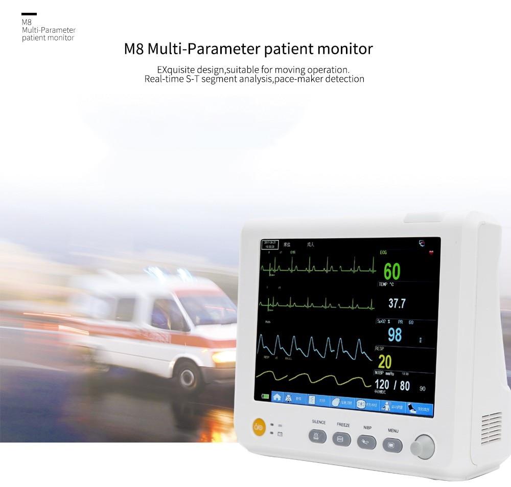 TUV CE DHL transmission complete accessories 8inBlood pressure ICU modular patient monitor parameters NIBP S