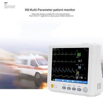 TUV&CE, DHL transmission, complete accessories, 8inBlood pressure ICU modular patient monitor parameters NIBP, S