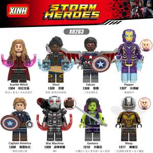 Marvel Avengers Endgame  Super Heroes Iron Man Thanos Thor War Machine spiderman Captain America Hulk Building Blocks toy  X0263