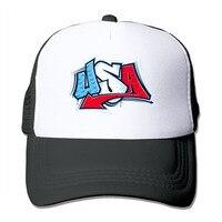 Unisex Patriotic Dog American Flag USA 4th July Mesh Trucker Hat Snapback Baseball Cap