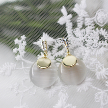 CHENFAN ladies earrings fashion for women Japanese and Korean S925 silver needle opal eye drop Simple jewelry