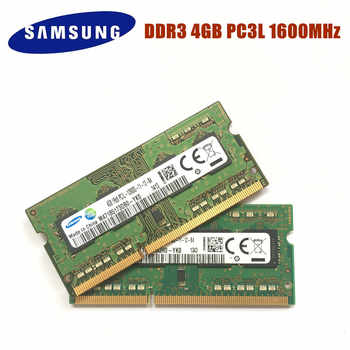 Free Shipping SAMSUNG 4G 1RX8 PC3L 12800S DDR3 1600Mhz 4gb Laptop Memory 4G pc3l 12800S 1600 MHZ Notebook Module SODIMM RAM