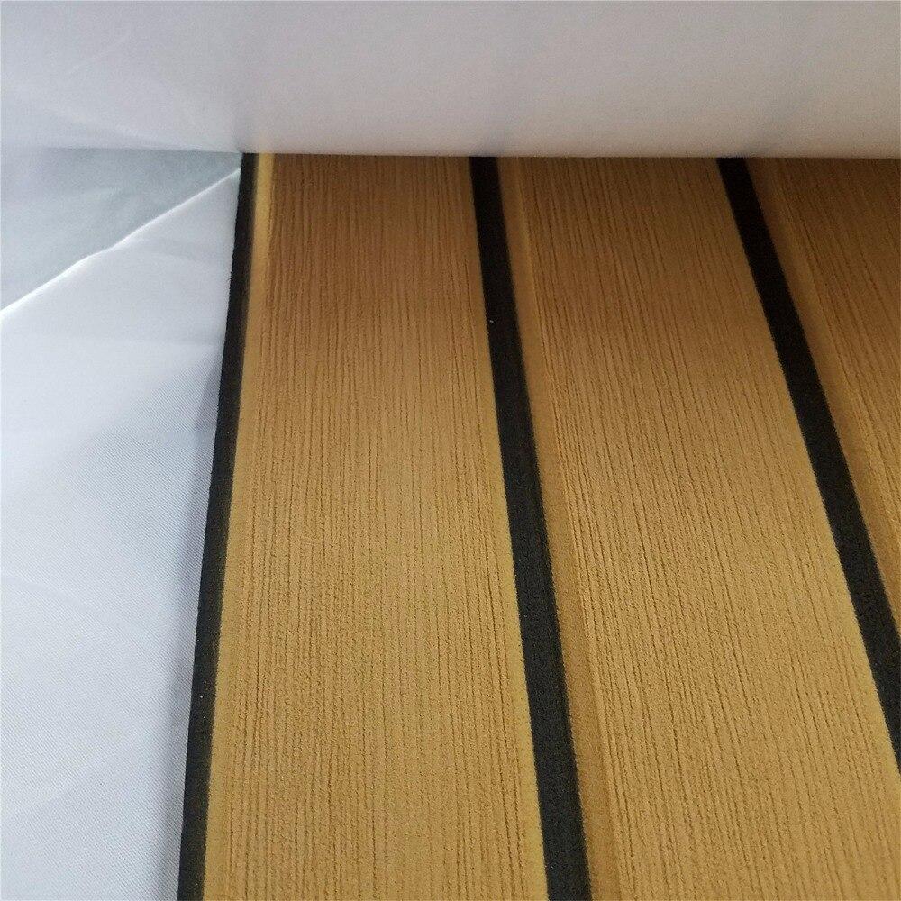 """מערכות ניווט שדרג טיק הסיפון גיליון עבור אביזרים תלוש שטיחים ריצוף ימית סירה יאכטה EVA ללא Mat 90cm240cm / 35.4 """"94.5"""" צהוב בראון (5)"""