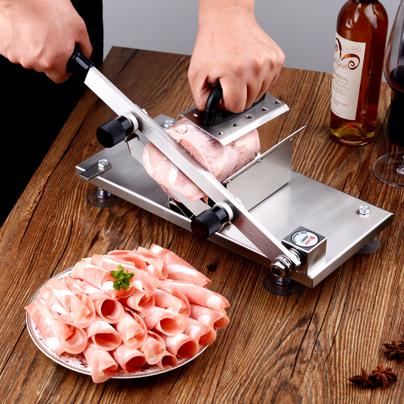 stainless steel Manual Cut meat machine Household Mutton slicing machine Commercial Mutton roll slice Planing machine stainless steel manual slice tomato fruits and vegetables more chopper slice cutting machine