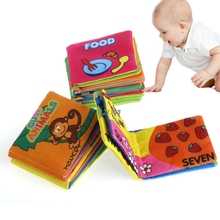 Baby Cloth Cognize Book Animal Picture Kid Intelligence Development Learn Toy For Boys And Girls A16790