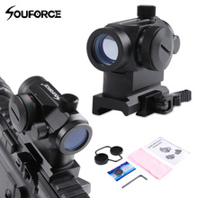 цена на QD High Red Green Dot Holographic Sight Riflescope Quick Detach with 20mm Mount Rifle Scope for Picatinny and Weaver Rail System