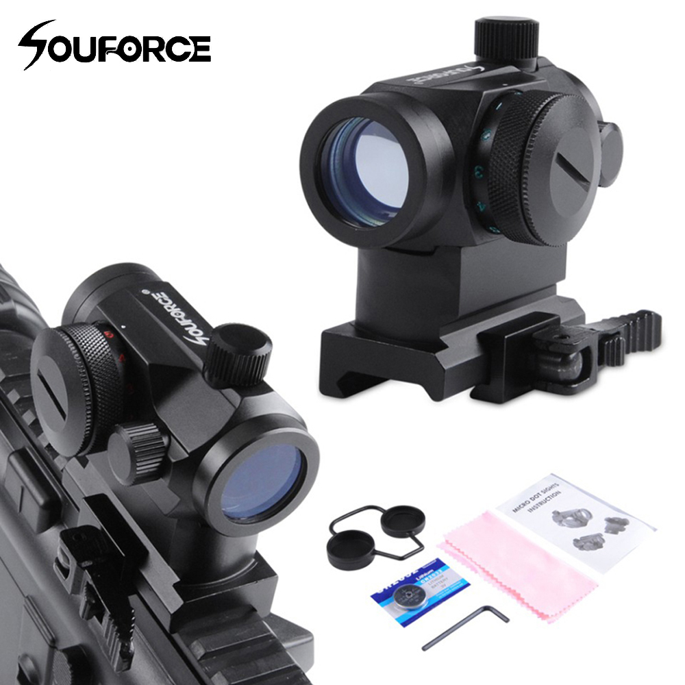 QD High Red Green Dot Holographic Sight Riflescope Quick Detach with 20mm Mount Rifle Scope for Picatinny and Weaver Rail System