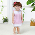 Free Shipping Baby Sets 1-2 years Girls Infant Cotton Clothing Sets Summer Clothes Bow Stripped Girl Kids Dress