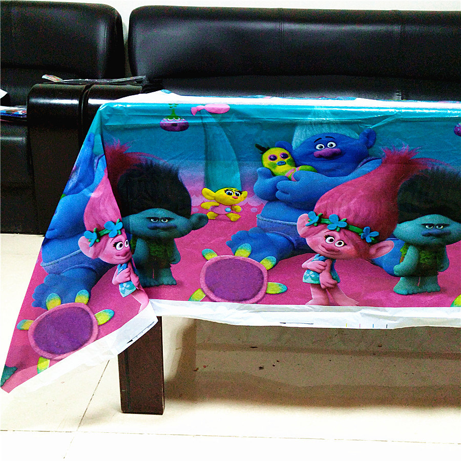 108cm*180cm Trolls Party Supplies Table Cloth Favors Kids Boy Birthday Party Festival De ...