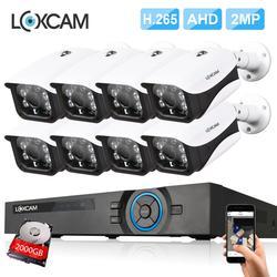 ВИДЕОНАБЛЮДЕНИЯ Системы видеонаблюдения комплект 8x2 Мп SONY323 AHD 1080 P Водонепроницаемая Камера Безопасности 8 Канала HDMI 1080 P DVR NVR 4 * Массивов Све...