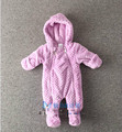Baby soft conjoined cotton-padded jacket