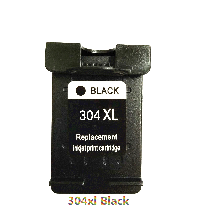 Vilaxh compatible For <font><b>HP</b></font> <font><b>304</b></font> Black Ink Cartridge Replacement For <font><b>HP</b></font> <font><b>304</b></font> <font><b>xl</b></font> 304xl Deskjet 3724 3730 3732 3752 3720 3721 Printer image