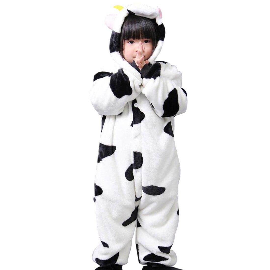 WOTT Child Unisex Girls Boys Night Costume Onesies Cow style