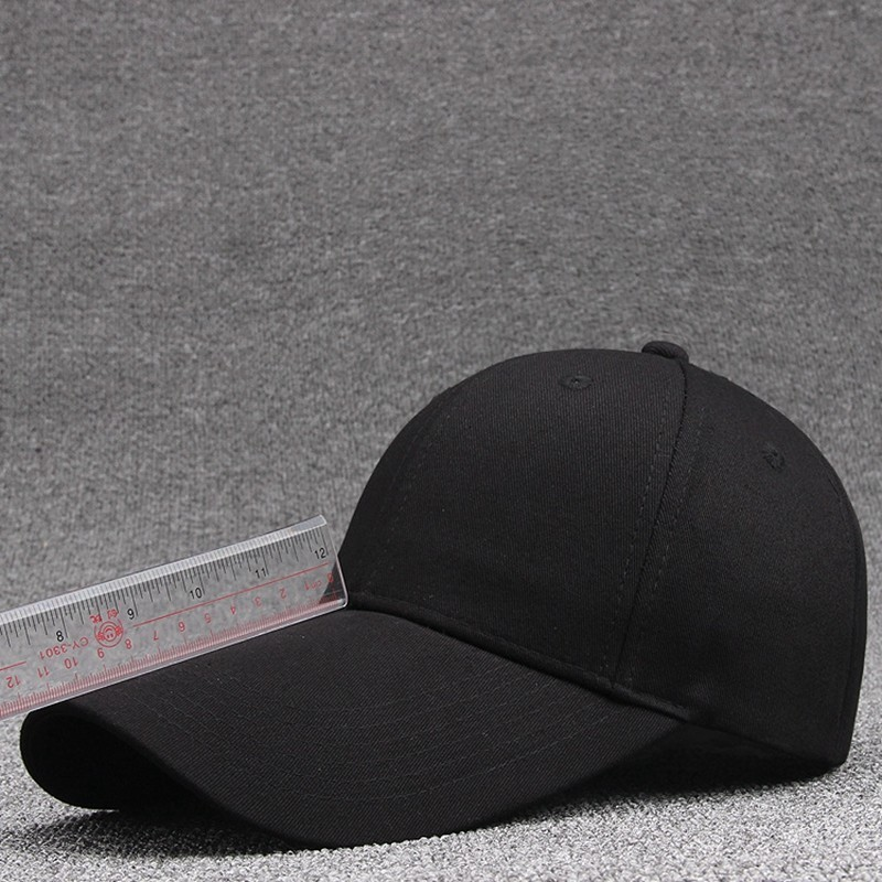 55-60cm 60-65cm 11cm Long Visor Large Head Man Big Size Causal Peaked Hats Cool Hip Hop Hat Man Plus Size Baseball Caps