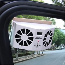 Solar Sun Power Mobil Auto Udara Vent Cool Fan Cooler Sistem Ventilasi Radiator Mobil Air Purifier(China)