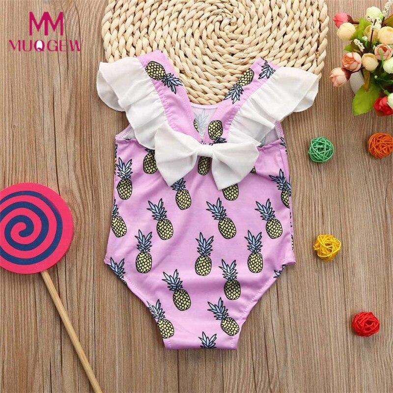 Infant Kids Baby Girls Pineapple Print Bikini Ruffles -2757