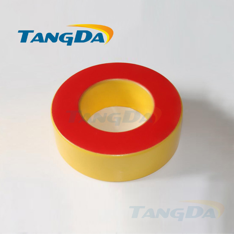 цена Tangda Iron powder cores T650-8 OD*ID*HT 165*88*51 mm 200nH/N2 35uo Iron dust core Ferrite Toroid Core toroidal yellow red