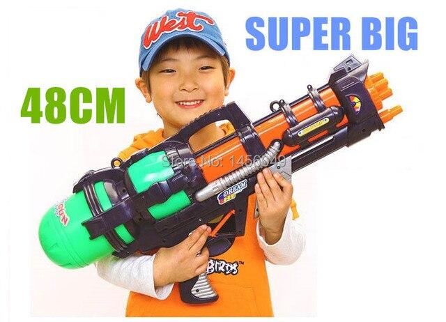 Big Water Gun Pistol Inflatable High Pressure Gun Shooting Squirt Water  Bullet Plastic Outdoor Fun &