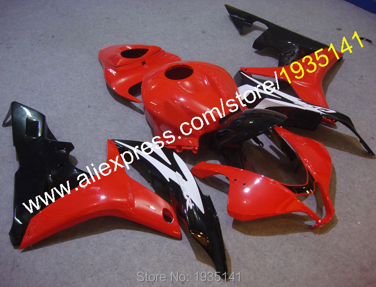 Hot Sales,For Honda CBR600RR F5 2007 2008 CBR 600 RR 07 08 Red Black White Body work Motorcycle Fairing Kit (Injection molding)