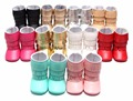 2016 New arrived Pu suede leather 3 layer Tassel moccasins baby Newborn baby boots infant first step shoes