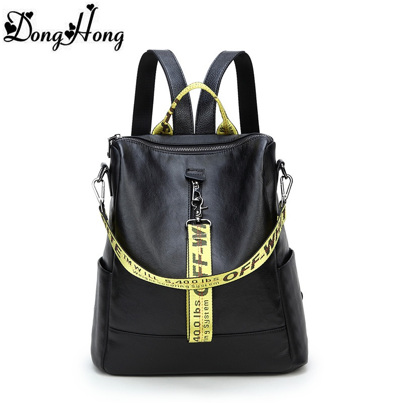 New Trend 100% Real Soft Genuine Leather Women Backpack Woman Korean Style Ladies Strap Laptop Bag Daily Backpack Girl School luyo 100% soft genuine leather women backpack for girls youth woman ladies laptop bag daily backpack school sac a dos travel