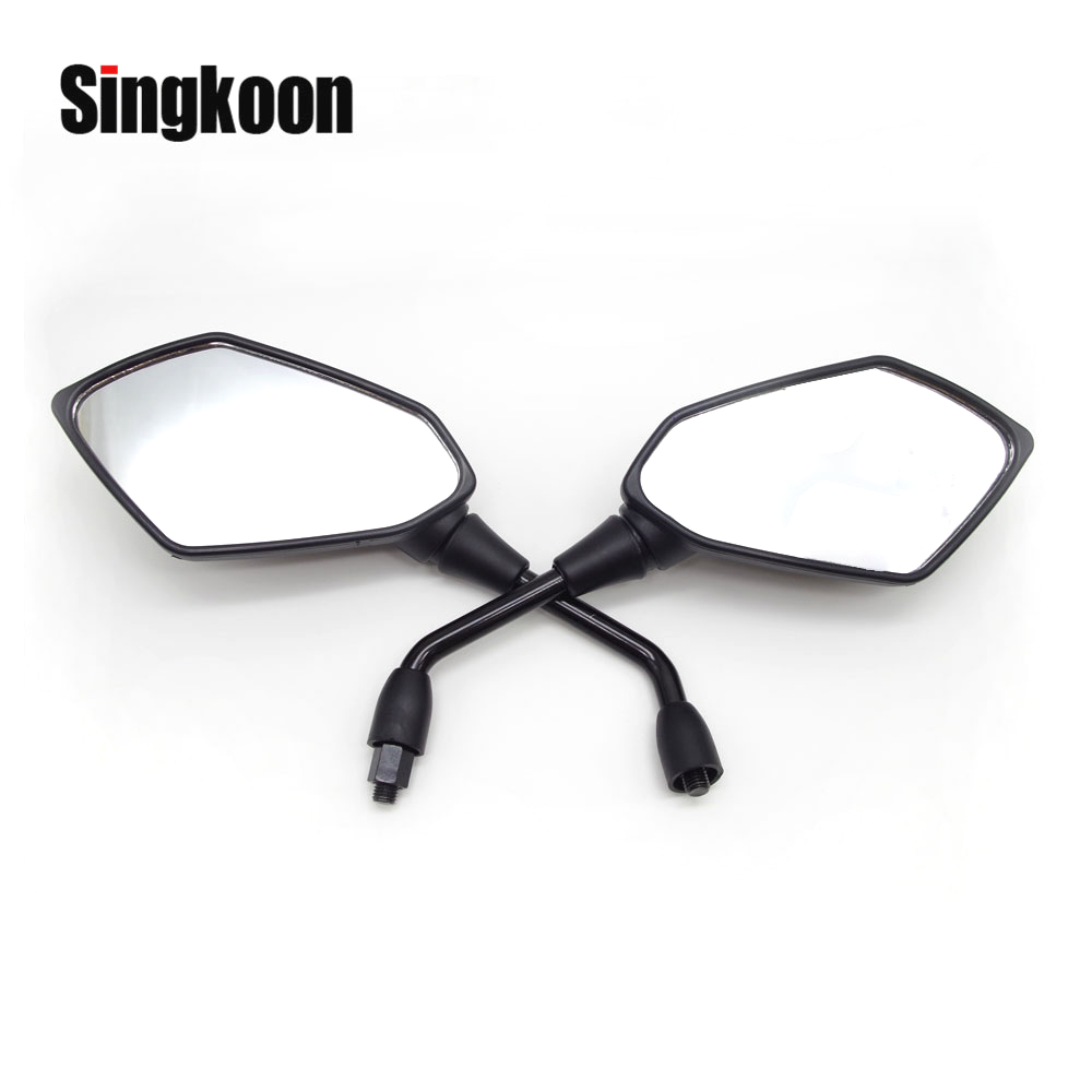Universal 10mm Motorcycle Mirror Rearview Scooter Accessories retroviseur moto FOR vstrom 650 hyosung gt650r suzuki gs 500Universal 10mm Motorcycle Mirror Rearview Scooter Accessories retroviseur moto FOR vstrom 650 hyosung gt650r suzuki gs 500