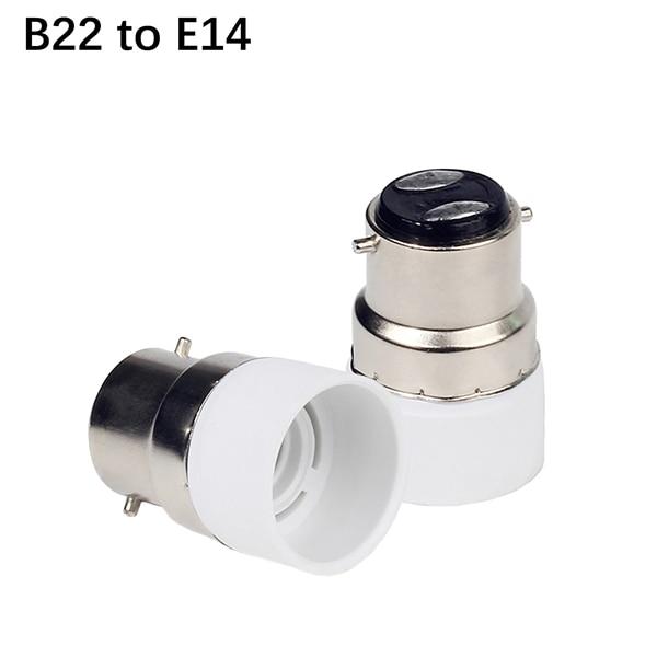 1 шт. B22 к E14 GU10 Лампа База B22 держатель лампы Конвертор гнездо адаптера для Светодиодная лампа spotlight - Цвет корпуса: B22 to E14
