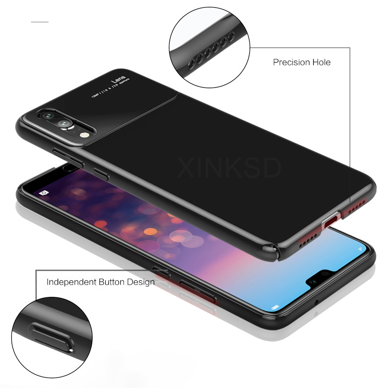 Fashion Hard PC cover For Huawei P20 Lite Pro case Tempered Glass Back Protection Cover For Huawei Honor 10 P20 Phone Case X10