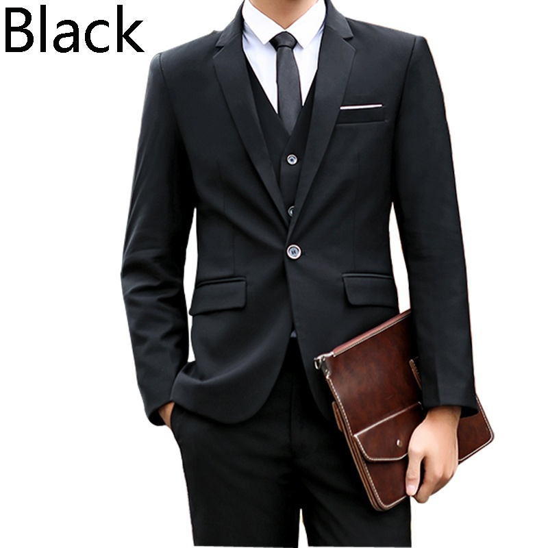 2019 Mens Suits 3 pieces Fashion 9 Colors Groom Wedding Suits for Men Slim Formal Male suit Business plus size 5XL Suits Black