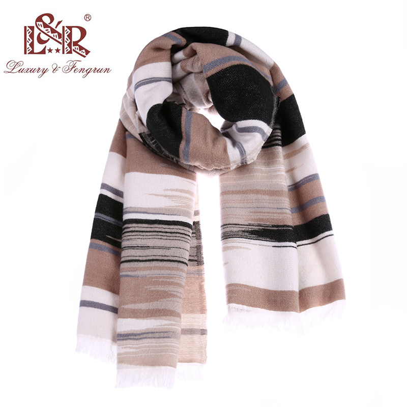 2018 Women   scarf   fashion gemoetric poncho autumn winter cashmere   scarves   lady pashmina wool shawl   wraps   excharpe foulard female