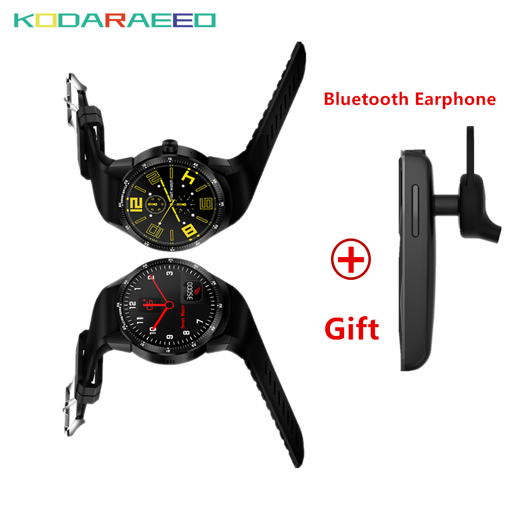 3G Smart Watch K98H Android 4.4 OS MTK6572A RAM 512MB+ ROM 4G Support Nano SIM Card GPS WIFI Heart Rate Smartwatch+Free Headset цена