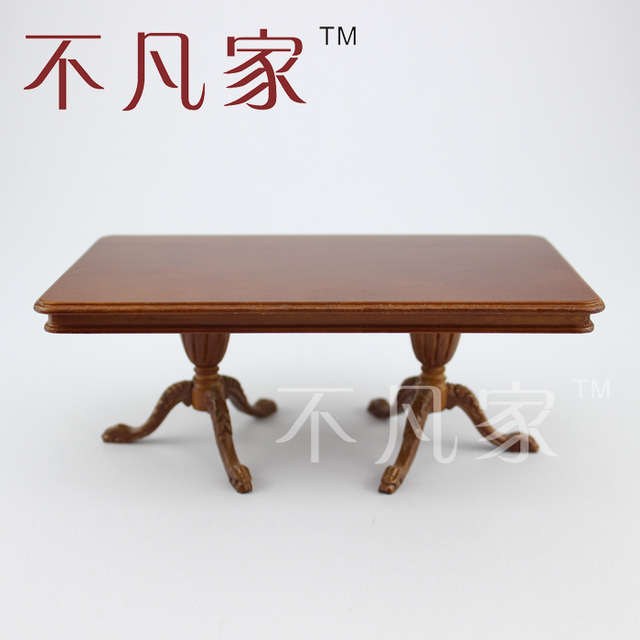 Dollhouse 1:12 scale miniature furniture Superb carved dining table