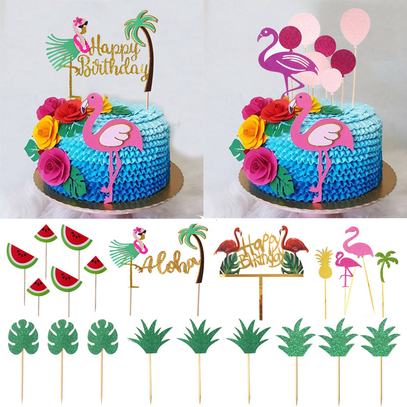 Cake Toppers Happy Birthday Cake Summer Beach Party Decoration Christmas Gift