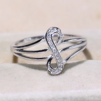 Unique Original Stunning Luxury Jewelry Pure 100% 925 Sterling Silver Eternity note Rings AAA CZ Women Wedding Music Ring Gift