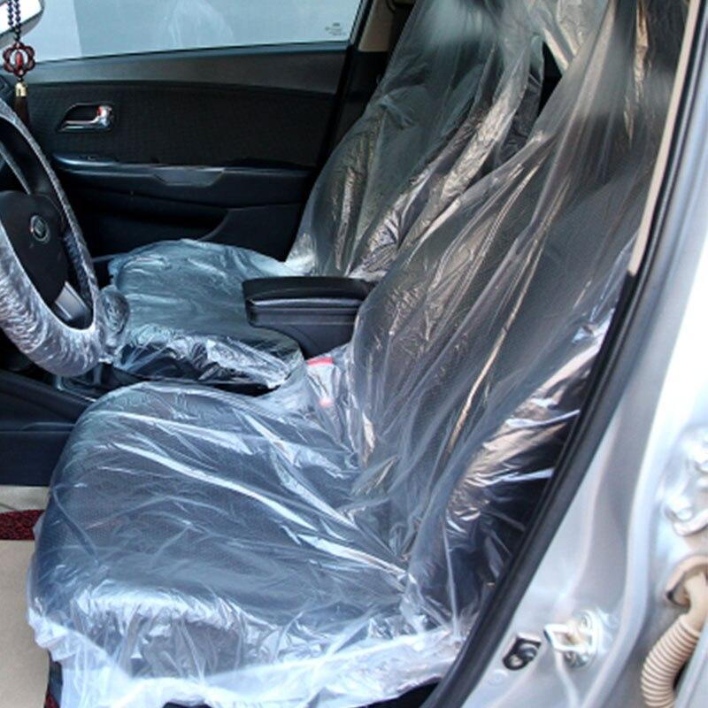 VEHEMO 10 шт. Авто одноразовые Пластик сиденье обслуживания Красота одноразовые сидений автомобиля Provent пыли и грязи протектор
