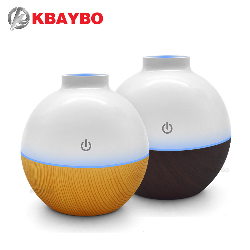 USB 130ml Essential Oil Diffuser Aromatherapy Mist Maker EUltrasonic Humidifier Aroma Diffuser with 7 Color LED Light Wood Grain usb ultrasonic humidifier 290ml aroma diffuser essential oil diffuser aromatherapy mist maker with 1 color led light wood grain