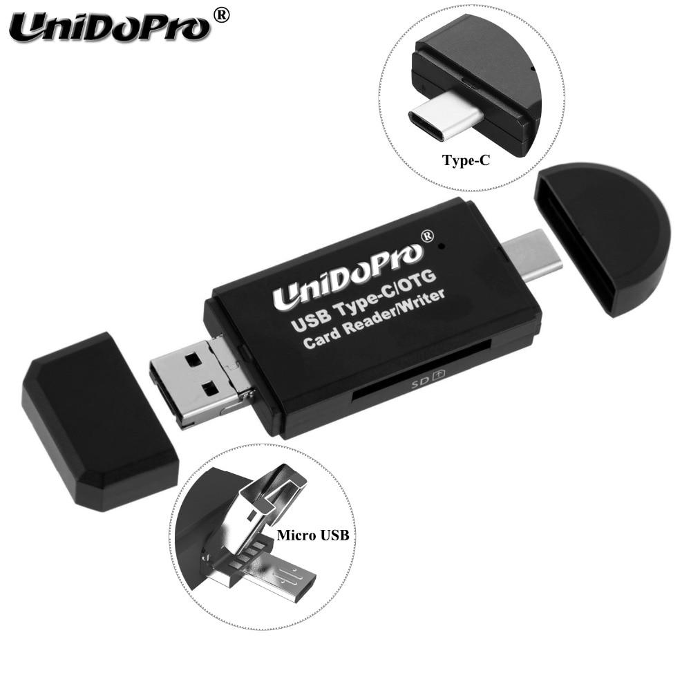 Pocket Micro USB OTG to USB 2.0 Adapter SD//Micro SD TF Card Reader Converter New