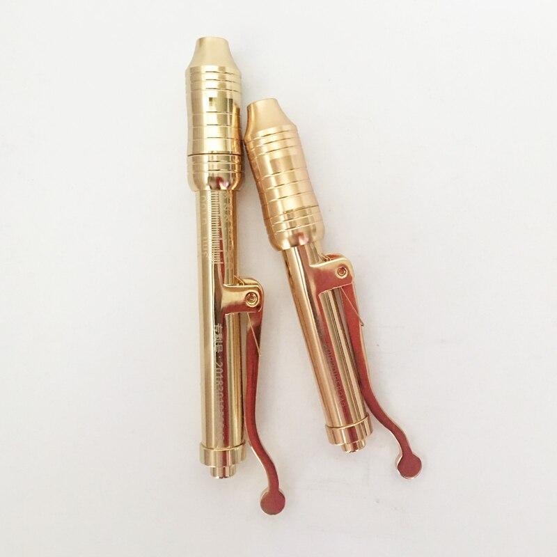 2018 HOT GOLD Customizable LOGO Hyaluron Gun Adjustable no needle injection hyaluronic serum pen mesotherapy gun atomizing acid